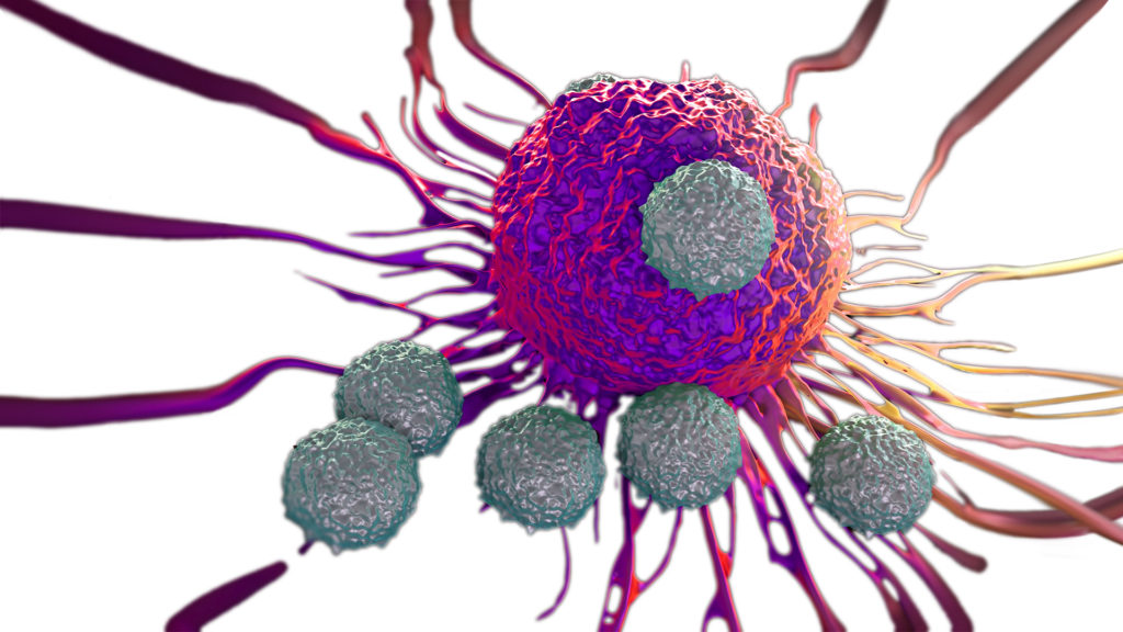 Tcells_attacking_cancer_cell