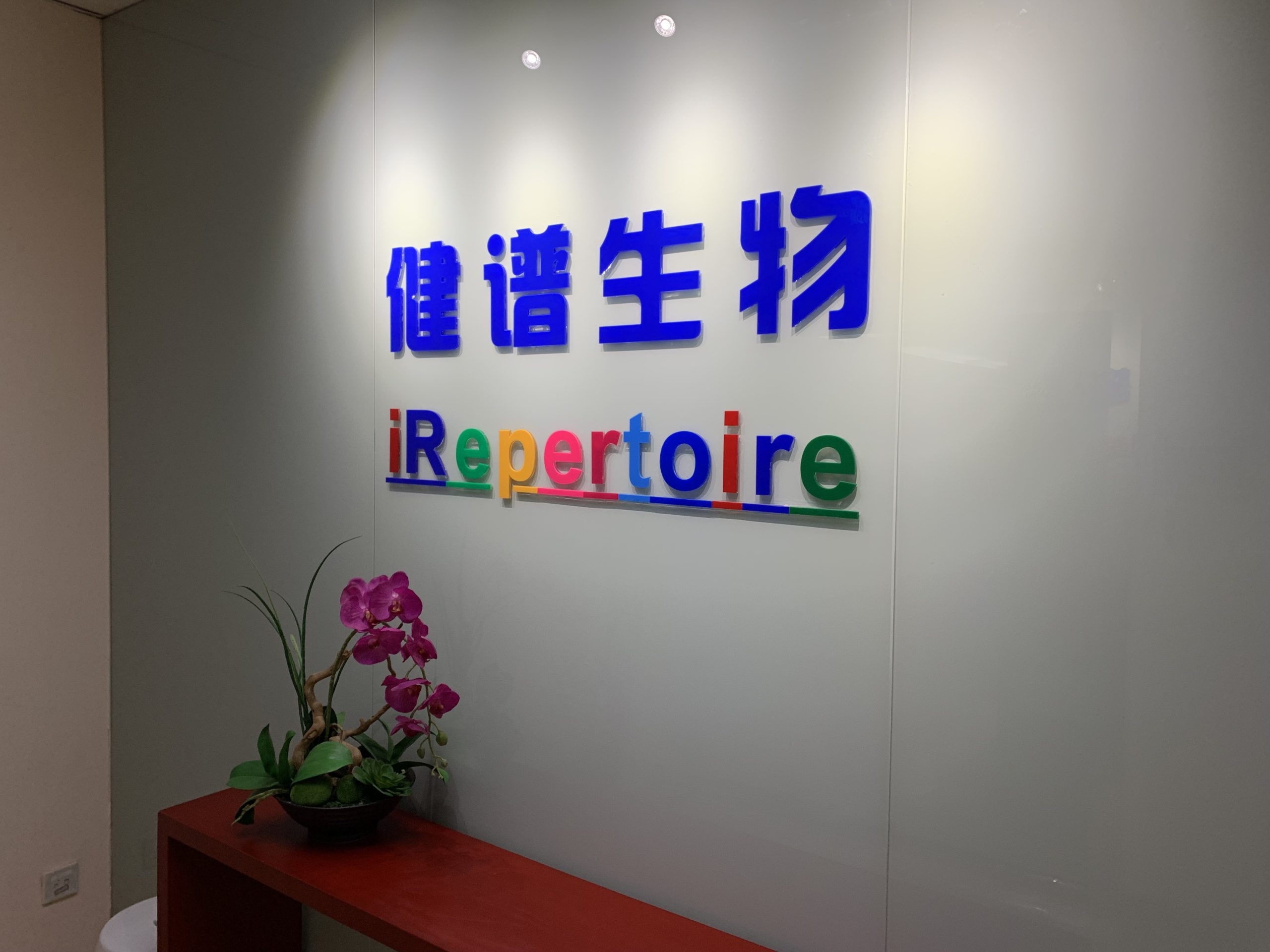 Entryway and sign for iRepChina
