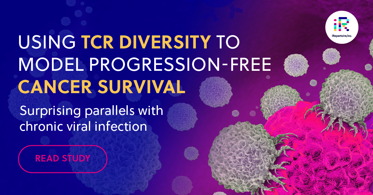 Using TCR diversity to model progression-free cancer survival. Surprising parallels with chronic viral infection. Ready study.