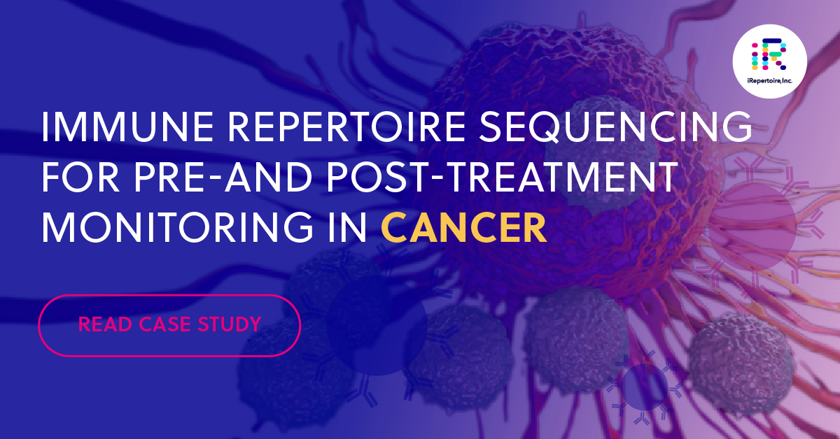 Immune repertoire sequencing for pre- and post-treatment monitoring in cancer. Read case study.